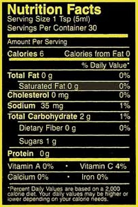 Micanopy Gold Nutrition Facts